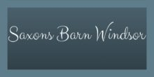 Saxons Barn Windsor Sticky Logo